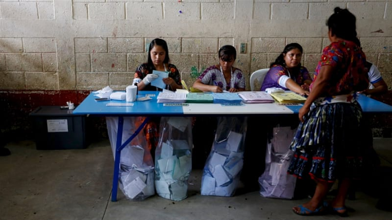 Many Guatemalans wanted Sunday's vote postponed as it offered little alternative to the old guard [Reuters]