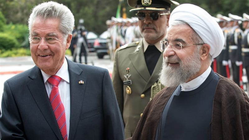 Hassan Rouhani's remarks came during a press conference in Tehran with visiting Austrian counterpart Heinz Fischer [EPA]