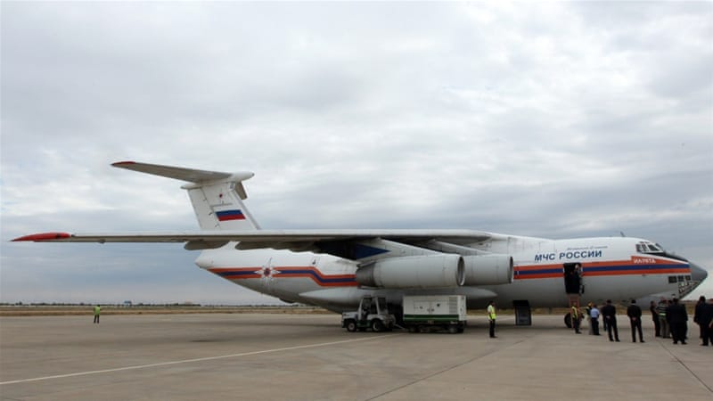 Russia has been sending flights to Syria throughout the conflict, which it says have been delivering aid [AFP]