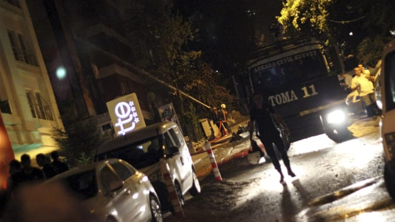 Turkish Prime Minister Ahmet Davutoglu denounced the nationalist attacks and called for calm [Reuters]