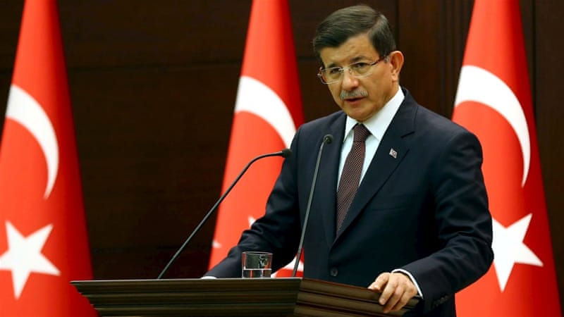Davutoglu said the PKK rebels first fired on the soldiers and later detonated the bombs, killing 16 [Reuters]