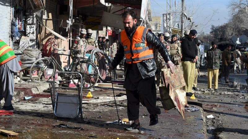 Suicide attack on a polio vaccination centre in southwestern Pakistan kills more than a dozen people [Arshad Butt/AP)