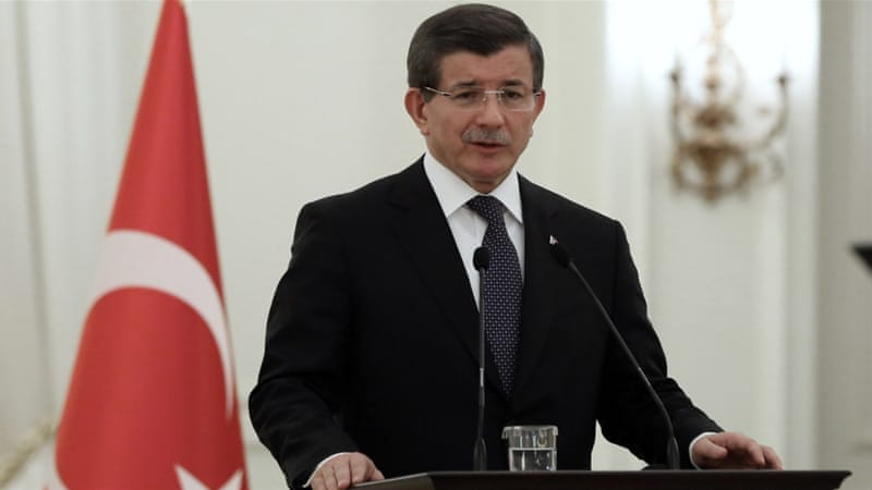 Davutoglu said that Ankara would, if necessary, take military action against Syrian Kurdish fighters [File: AP Photo]