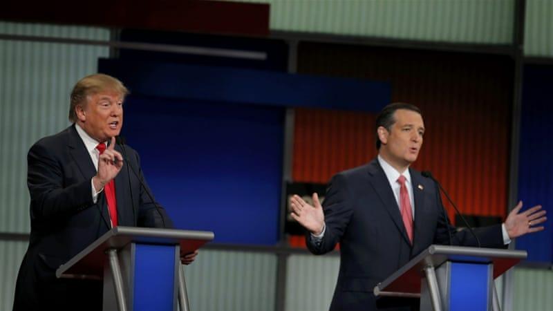 republican frontrunners clash in tense us debate news al jazeera