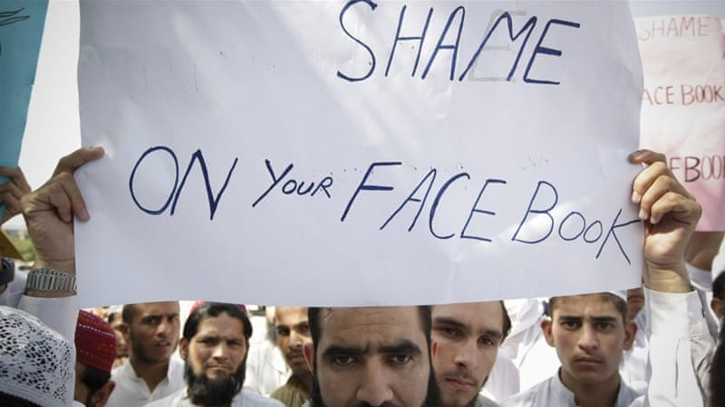 Several protests have taken place in Pakistan over questionable material posted on social media sites [AP]