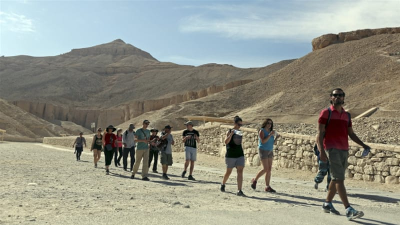 Tourists visit the Valley of the Kings, in Luxor, Egypt [REUTERS]