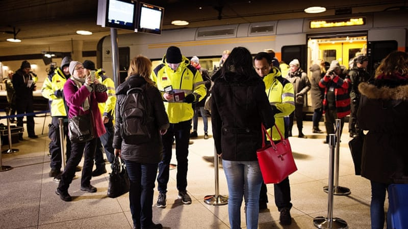 European countries including Sweden and Denmark have imposed new border measures to limit the flow of refugees [EPA]