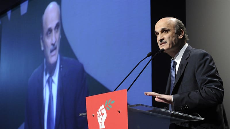 By announcing his endorsement of Michel Aoun, Samir Geagea essentially withdrew his own bid to be nominated president [File: Wael Hamzeh/EPA]