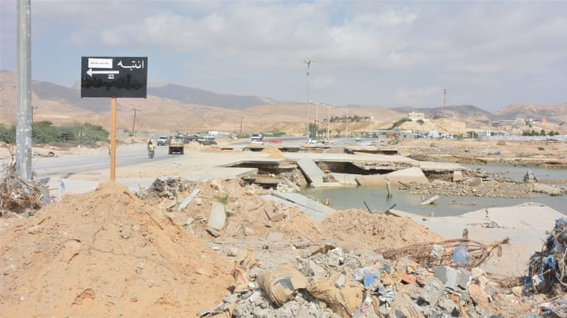 The cyclone that hit Mukalla last November damaged roads, houses and sewer systems [Saeed Al Batati/Al Jazeera]