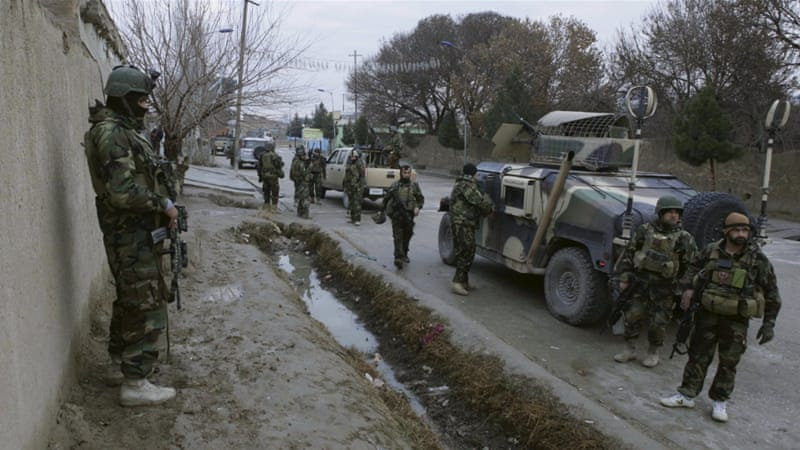 Afghan security forces surrounded the house that the attackers were firing shots from [Reuters]
