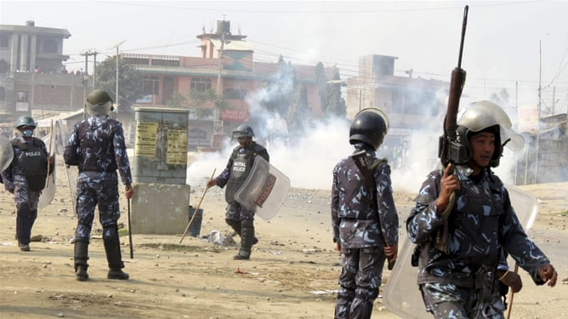 At least 50 people have been killed in police shootings during protests by Tarai people since September [AP]