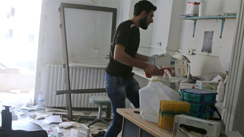 Both of eastern Aleppo's two main surgical medical facilities supported by MSF have been damaged in the conflict on five separate occasions [Reuters]