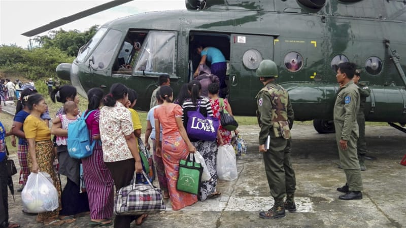 The government has been accused of disproportionately helping Buddhist ethnic Rakhine civilians during the unrest [EPA]