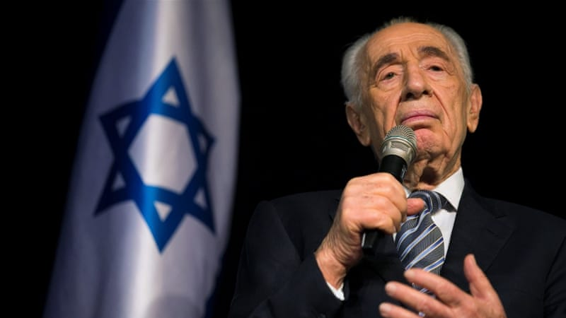Shimon Peres argued that peace is an Israeli need and not a favour to Arabs or Palestinians, writes Hagopian [REUTERS]