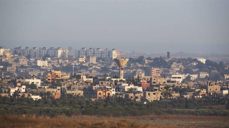 The Northern Gaza Strip town of Beit Hanon as seen from the Israeli side of the border [EPA]
