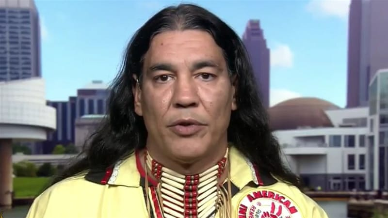 Civil rights leader Philip Yenyo says the Cleveland Indians' logo is offensive to Native Americans [Al Jazeera]