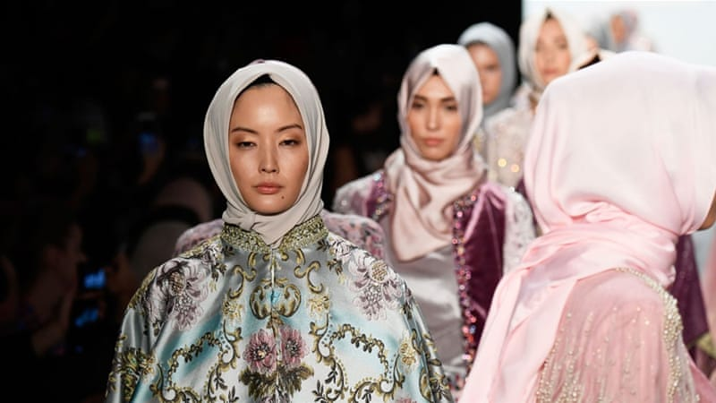 Models walk the runway at the Anniesa Hasibuan show during New York Fashion Week [Frazer Harrison/Getty Images]