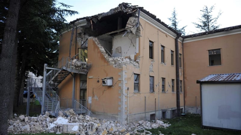 Many of the buildings that crumbled to the ground had already been damaged earlier this week by two earthquakes [EPA]