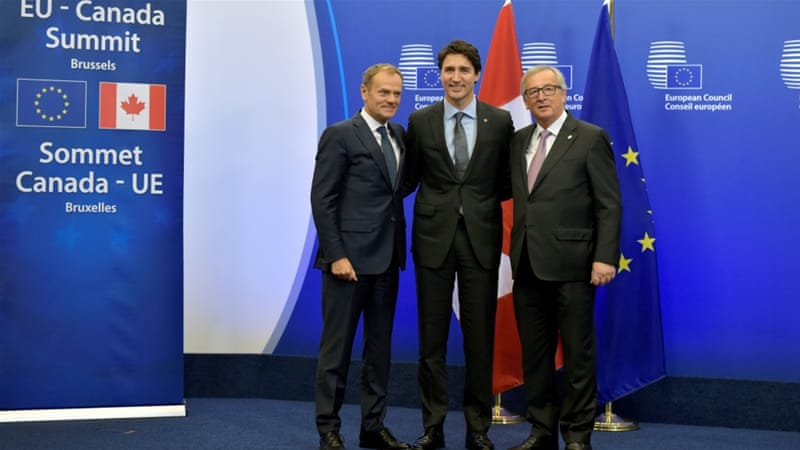 For the EU, the deal six years in the making is the first trade pact with a G7 nation
