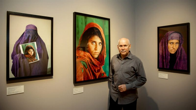 McCurry took the photos of Afghan girl Sharbat Gula in the 1980s [Ulrich Perrey/AFP]