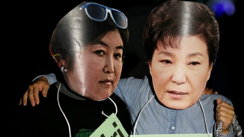Protesters denounced South Korean President Park Geun-hye's relationship with old friend Choi Soon-sil, who played an unofficial role in her cabinet [Reuters]