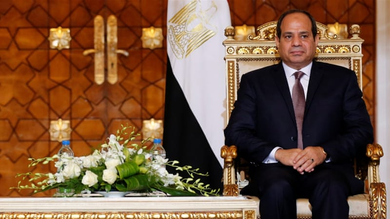 Egypt's Sisi has spent his presidency herding white elephants, writes Diab [Reuters]