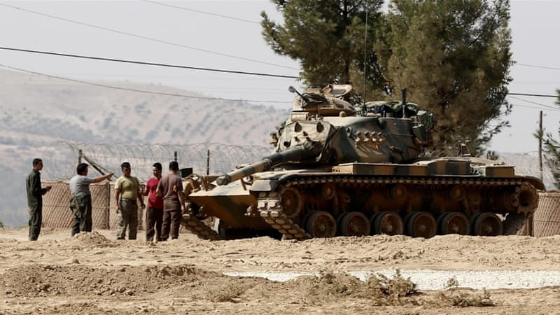 The Turkish military and its rebel allies in Syria have been engaged in a Syria offensive targeting ISIL and the YPG since late August [EPA]