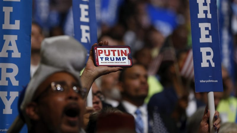 Democrats have criticised previous remarks made by Trump seemingly in praise of Putin [EPA]