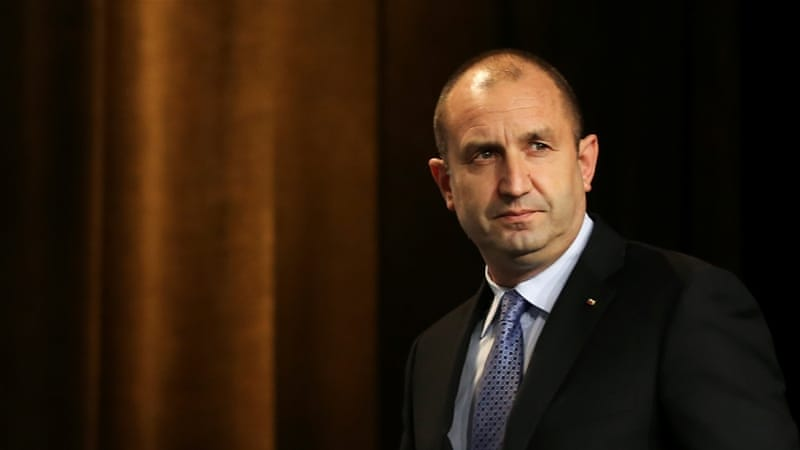 Radev won 59.4 percent of the vote, compared with 36.2 percent for the candidate of the ruling centre-right GERB party [Peter Ganev/Reuters]