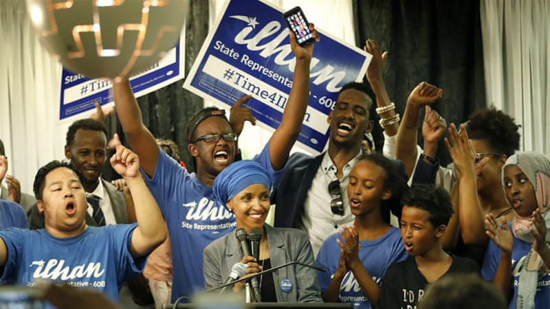 Image result for ilhan omar winning election