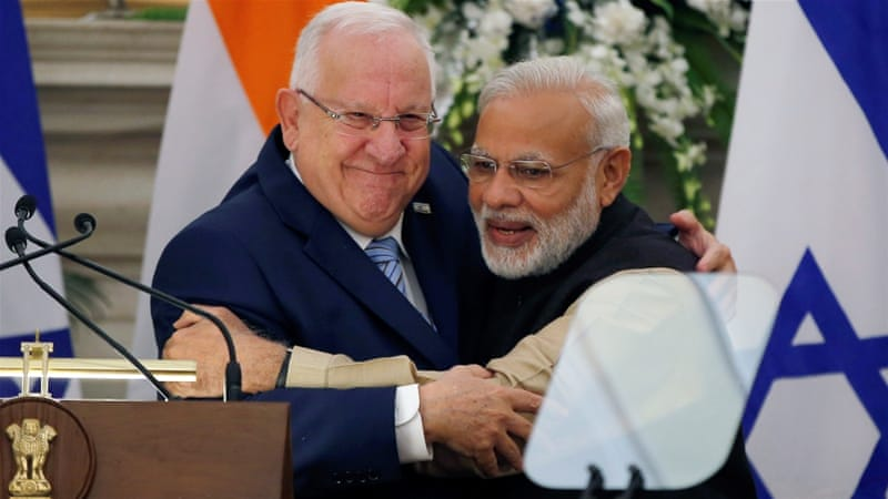 Modi said Rivlin's trip would give a 'crucial push' to bilateral ties [Reuters]