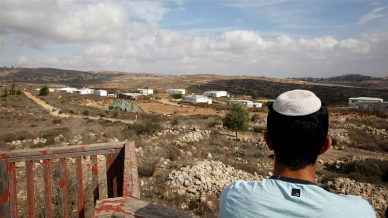 Amona is under a high court order to be demolished by December 25 because it was built on land privately owned by Palestinians  [Reuters]