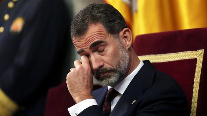 Spanish king shunned by left-wing MPs at parliament