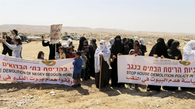 Bedouin Palestinians regularly endure home demolitions in Israel's Negev region [File: Ammar Awad/Reuters]