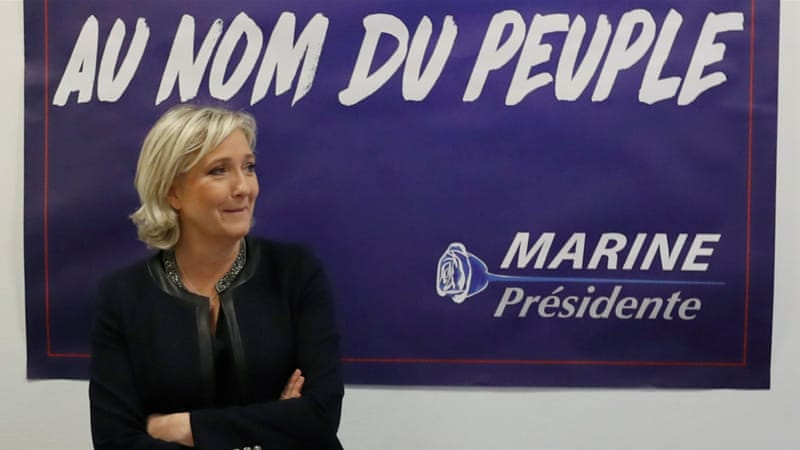 France's far-right National Front leader Marine Le Pen has used slogans similar to those US President-elect Donald Trump used in his election campaign [Reuters]