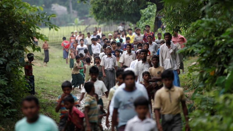 Rohingya muslims flee myanmar amid deadly attacks myanmar news men from a rohingya village outside maugndaw in rakhine state myanmar october 27 2016 thecheapjerseys Choice Image