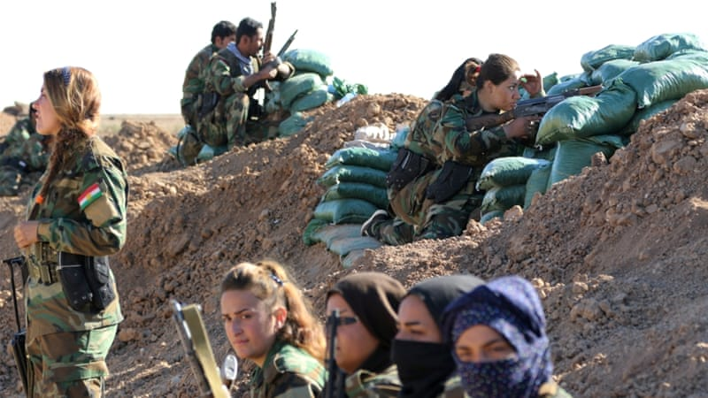 Iraqi Kurds fight against ISIL