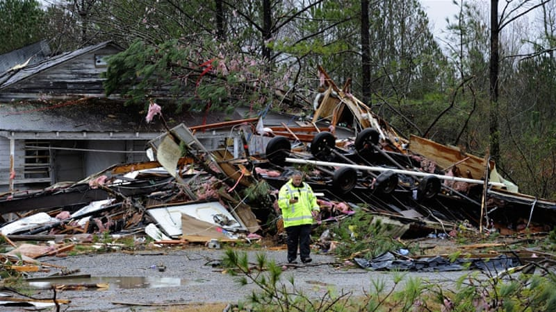 A total of 42 tornadoes were reported on Tuesday and Wednesday. [Eric Schultz/Getty/AFP]