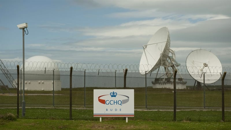 Satellite dishes are seen at GCHQ's outpost at Bude, close to where trans-Atlantic fibre-optic cables come ashore in Cornwall, southwest England [Reuters]