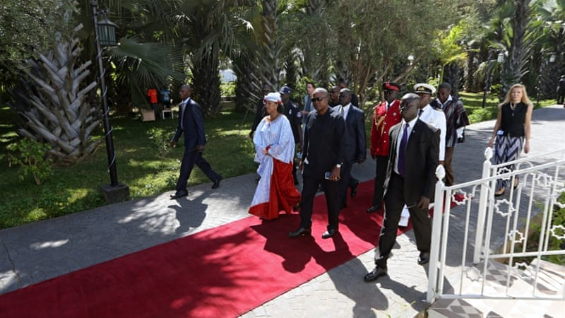 West African heads of state began arriving in Gambia on Tuesday [Reuters]