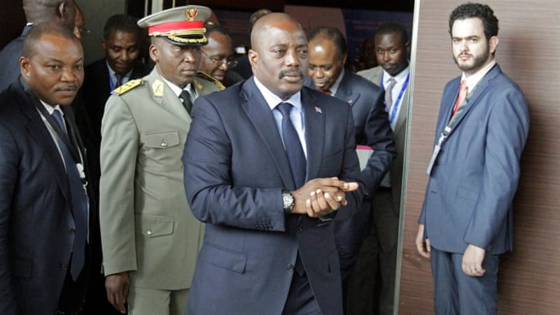 Kabila's failure to step aside has led to protests in which dozens have been killed [Kenny Katombe/Reuters]