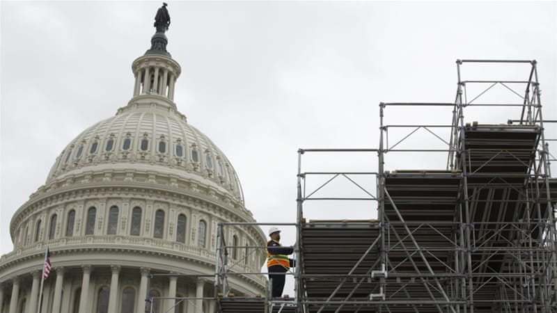 Ongoing inauguration ceremony preparations at the US Capitol Hill. On January 20, 2017, US President-elect Donald Trump will be sworn-in as the 45th president [EPA]