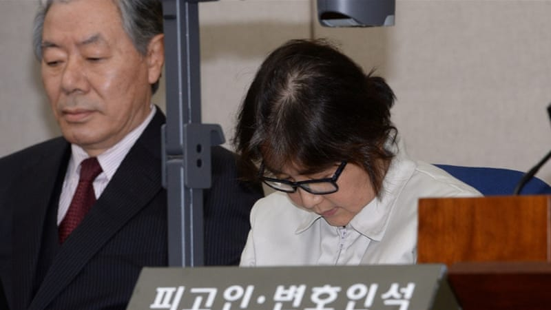 Choi Soon-sil, a long-time friend of South Korean President Park, attends her first court hearing in Seoul [Reuters]