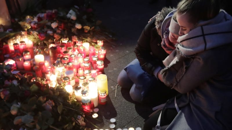 At least 12 people died in Monday's attack on a Christmas market [Markus Schreiber/AP]