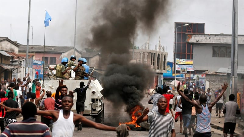 Protests have taken place in various parts of the country, notably Kinshasa and Lubumbashi  [Reuters]