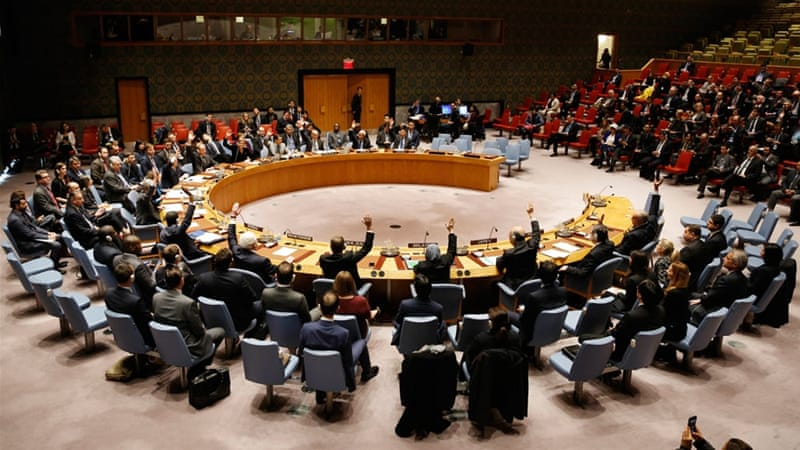 The proposed resolution submitted to the UN details the truce deal [Seth Wenig/AP]