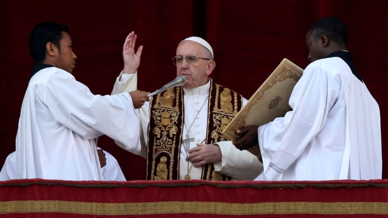 Pope urges end to Syria fighting in Christmas message | Syria News ...