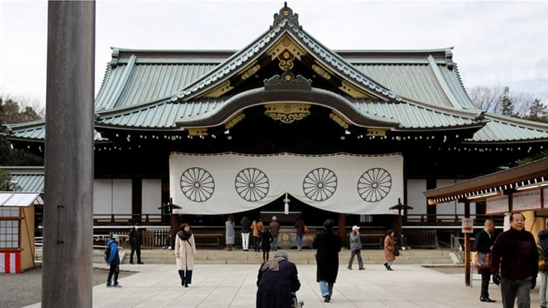 Yasukuni shrine honours millions of mostly Japanese war dead [Toru Hanai/Reuters]