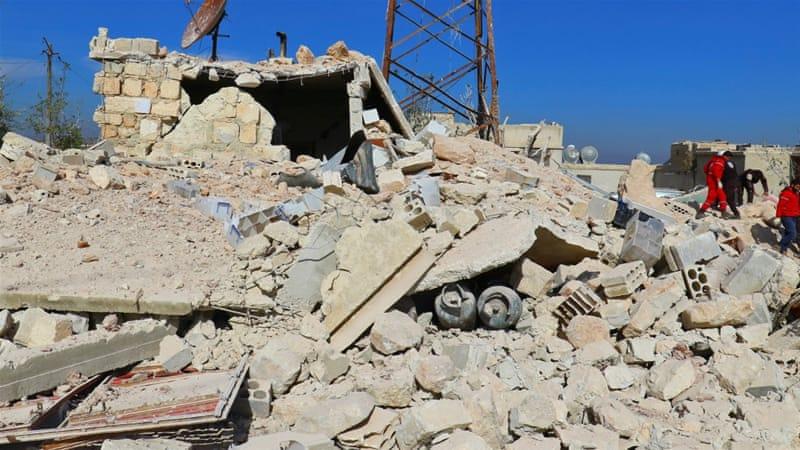 Russuans bomb Idlib