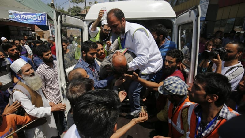 At least 80 civilians have been killed and about 12,000 wounded in almost five months of confrontation in Kashmir [EPA]